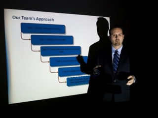man doing presentation