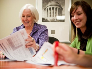 Women at a meeting
