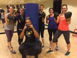 Photo of FMP employees at a gym event