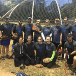 Photo of FMP staff at a softball event