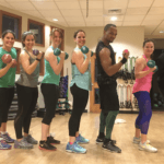 Photo of FMP staff in an exercise class