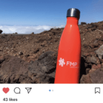 Instagram image of FMP water bottle