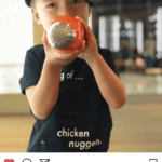 Instagram image of child with FMP water bottle