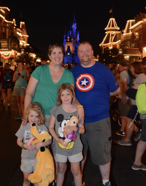 Photo of Tracy and her family at Walt Disney World