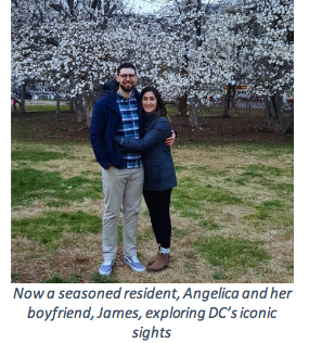 Angelica sightseeing with her boyfriend in DC