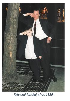 Kyle and his dad circa 1999