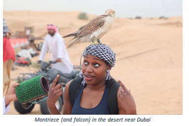 Montriece in the desert near Dubai