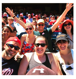 FMP staff at a baseball game