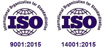 ISO 9001:2015, ISO 14001:2015